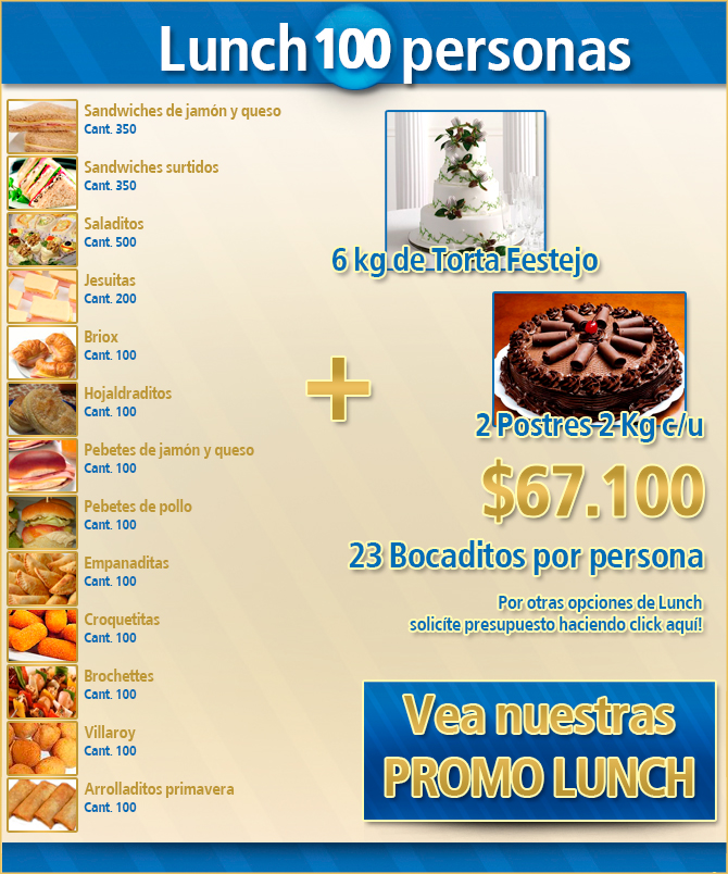 Lunch 100 Personas